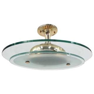 Oval Pendant by Fontana Arte For Sale