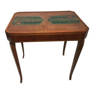 French Art Deco 1940's Marquetry Roulette Game Table For Sale