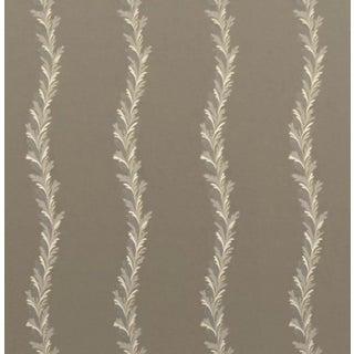 Ralph Lauren Nobles Velvet Embroidered Ash Fabric For Sale