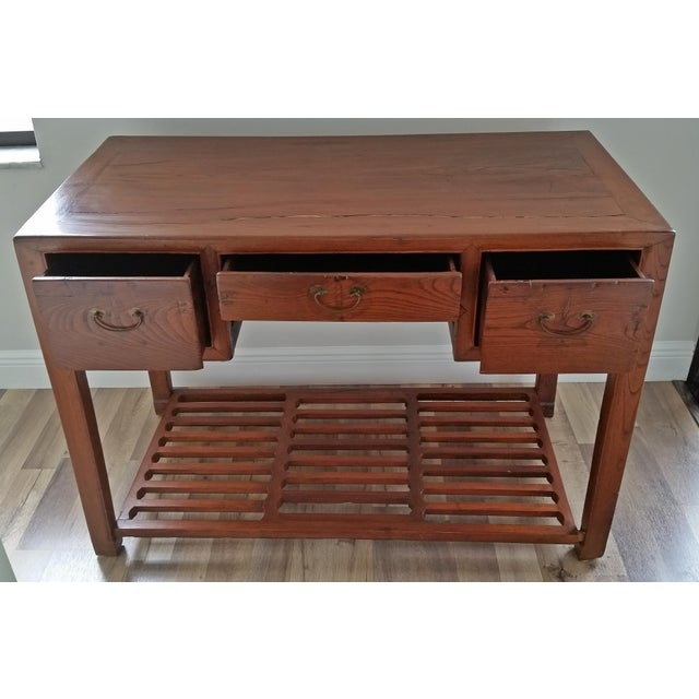Asian Antique Asian Writing Desk For Sale - Image 3 of 11
