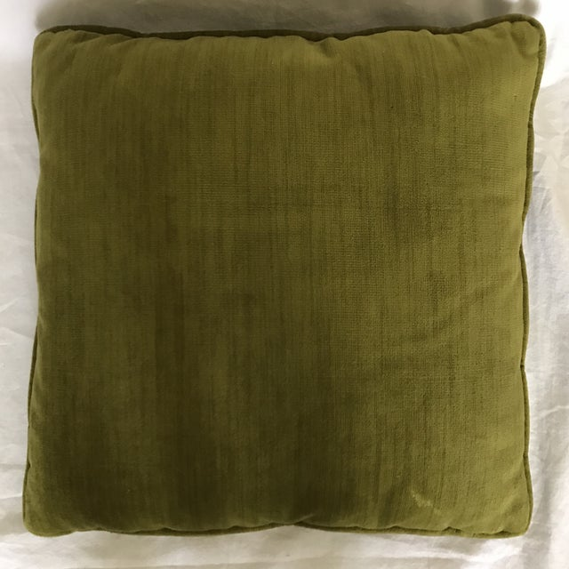 Square Needlepoint & Velvet Throw Pillow Chairish