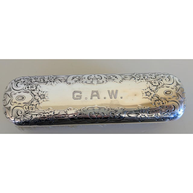Gorham Sterling Silver Monogrammed Vanity Clothes Brush - Image 2 of 9