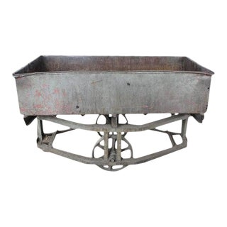 Antique American Industrial Bar Cart For Sale