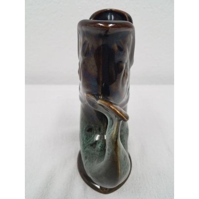 Vintage Green Fosters Studio Pottery Gurgling Jug or Vase For Sale - Image 4 of 10