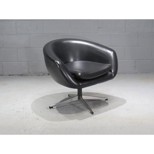 Black Swivel Pod Chair by Overman For Sale In Boston - Image 6 of 6