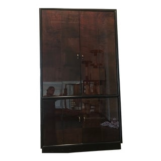Henredon Illuminated TV Storage Cabinet For Sale