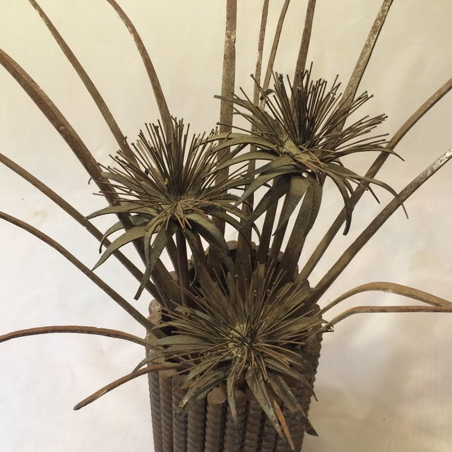 Wild Thistle Brutalist Sculpture - Image 5 of 6