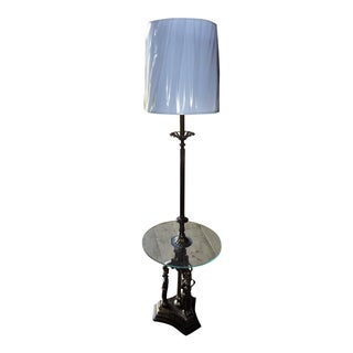 Vintage Art Nouveau Floor Lamp Table For Sale