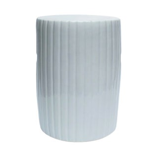White Cylinder Pumpkin Porcelain Garden Stool