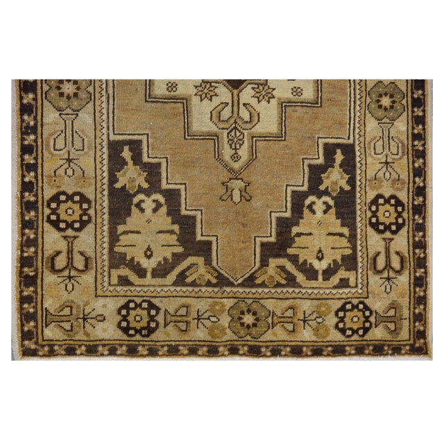 Contemporary Vintage Turkish Oushak Rug - 3′8″ × 6′9″ For Sale - Image 3 of 4