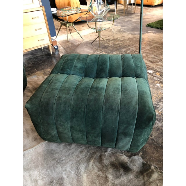 """Fabric Modular Green Sectional Sofa """"Giannone"""" by Arch. G.Grignani for 7Salotti, Italy For Sale - Image 7 of 9"""