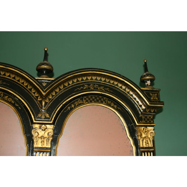 Gold 1900s Queen Anne Style Chinoiserie Gold Secretary Desk For Sale - Image 8 of 13