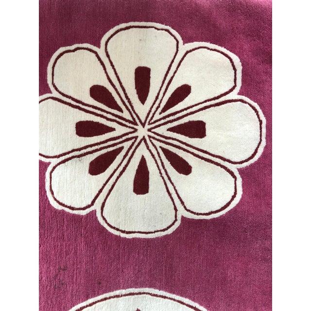 "Boho Chic Madeline Weinrib Hand-Knotted Tibetan Wool ""Medina"" Rug For Sale - Image 3 of 6"