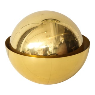 Bespoke Sphere Brass Desk Lamp by Bernard Figueroa For Sale