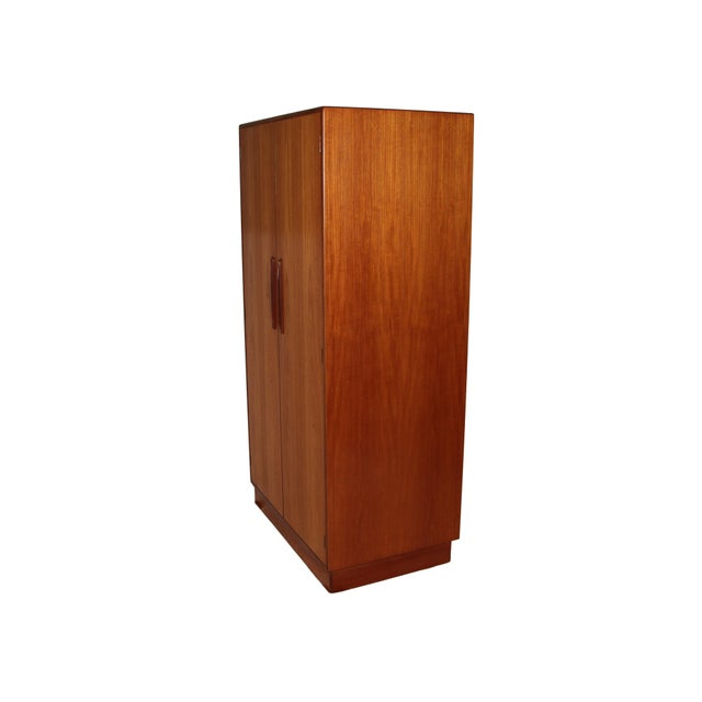 G Plan Mid Century G Plan Fresco Teak Wardrobe Armoire 2 of 2 For Sale - Image 4 of 9