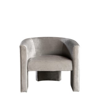 Leblon Barrel Chair in Gray For Sale