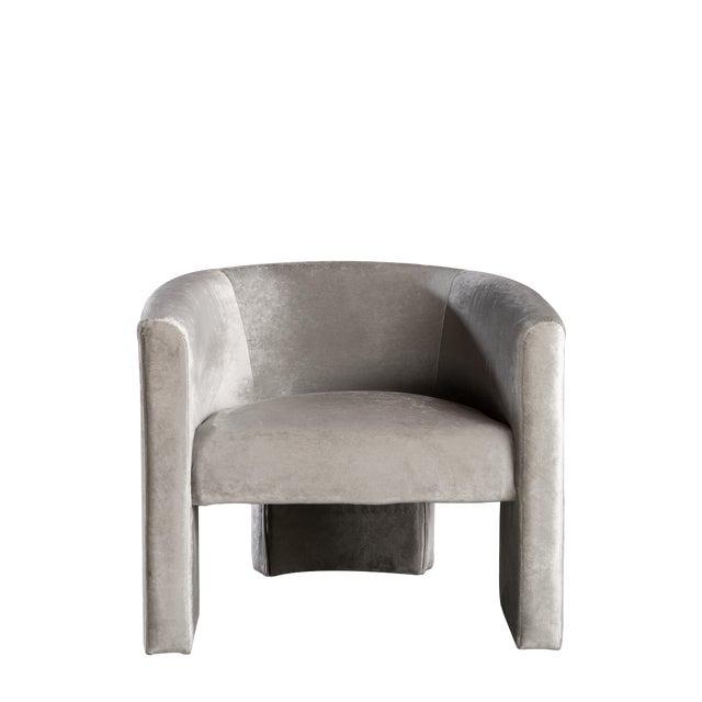 Leblon Barrel Chair in Gray For Sale