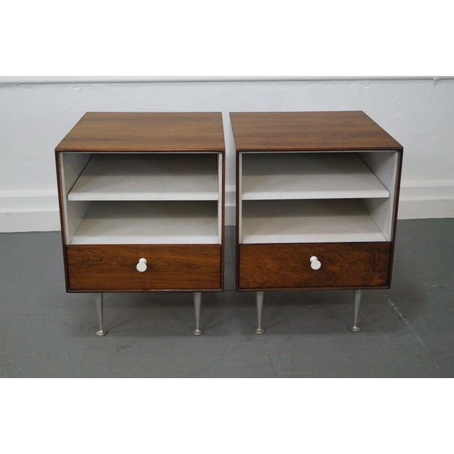 George Nelson Miller Rosewood Nightstands - Pair - Image 2 of 10