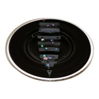 Michael Amis Glass Charger Plate For Sale