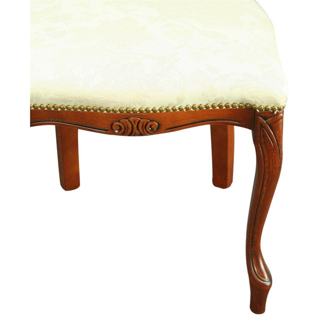 2000 - 2009 Italian Rococo-Style Mahogany Chair For Sale - Image 5 of 8