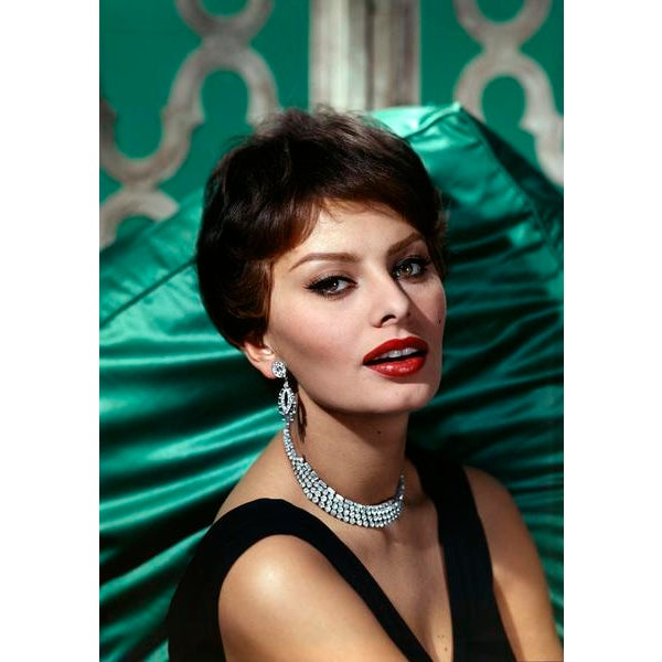 1959 Wallace Seawell Sophia Loren Canvas Portrait Photo For Sale