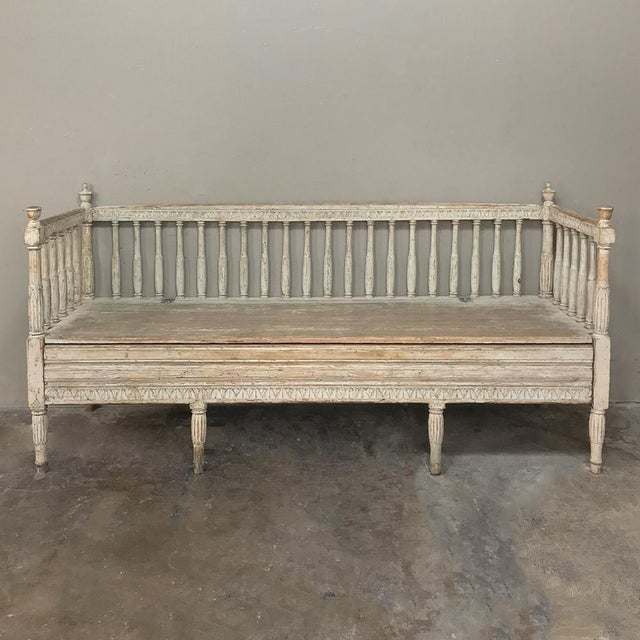 18th Century Swedish Gustavian Period Day Bed ~ Hall Bench Ca. 1790 For Sale - Image 13 of 13