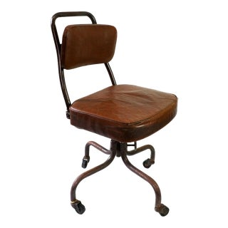 Vintage Fritz-Cross Rolling Desk Chair For Sale