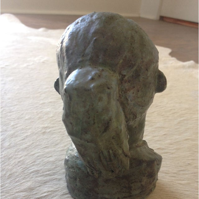 1956 Bust Sculpture of Girl - Image 5 of 8