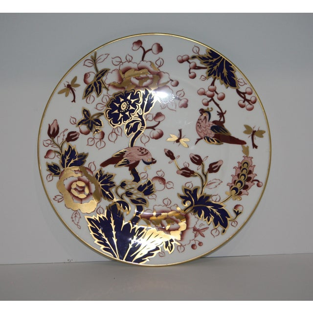 """This beautiful Coalport Hong Kong Mauve Cobalt dinner plate is 10 7/8 """" and would work well as an addition to the china..."""