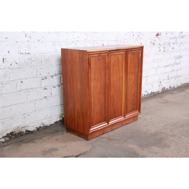 Danish Modern Kipp Stewart for Drexel Declaration Mid-Century Modern Walnut Cabinet, 1965 For Sale - Image 3 of 12