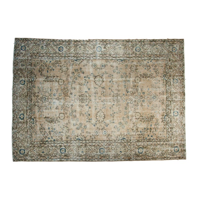 "Vintage Oushak Carpet - 7'1"" x 10' - Image 1 of 7"
