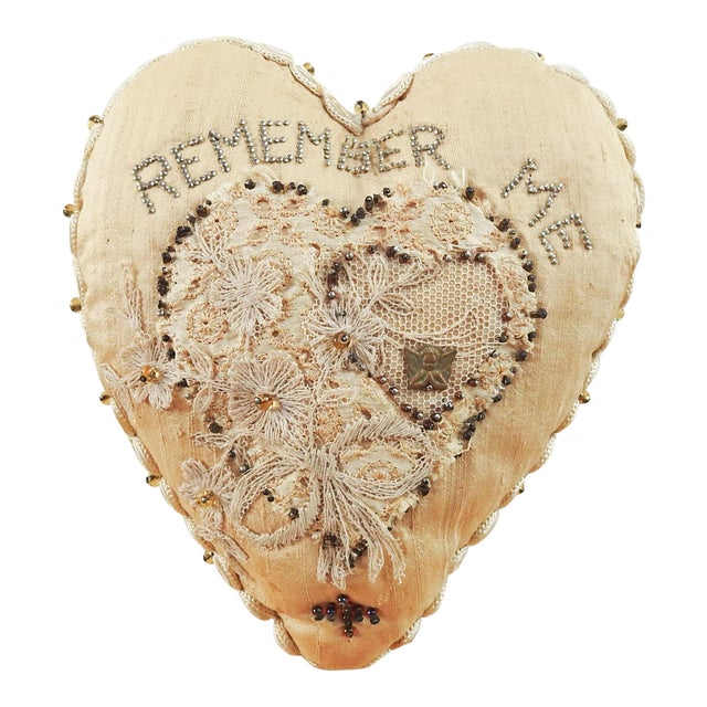 Antique Sweetheart Remember Me Pincusion For Sale
