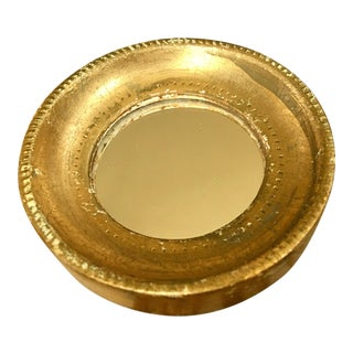Vintage Florentine Small Gold Mirror For Sale