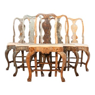 Swedish Rococo Chairs - Set of 6 For Sale