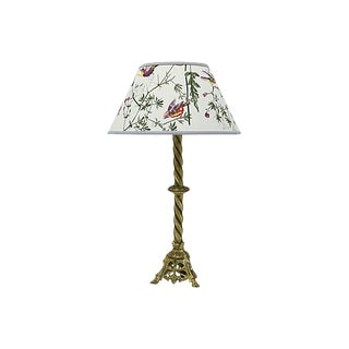 Vintage English Lamp / Pendant Shade W/ Birds For Sale