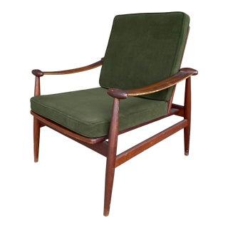 Vintage Green Finn Juhl Armchair For Sale
