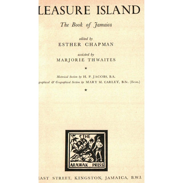 Pleasure Island by Esther Chapman. Jamaica: The Arawak Press, 1955. Third Edition. 316 pages. Hardcover in dust jacket.