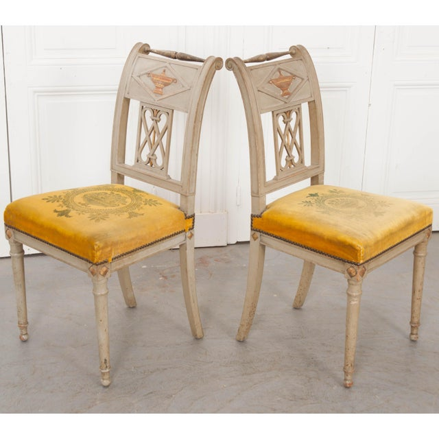 Late 19th Century French 19th Century Neoclassical Style Side Chairs - a Pair For Sale - Image 5 of 11