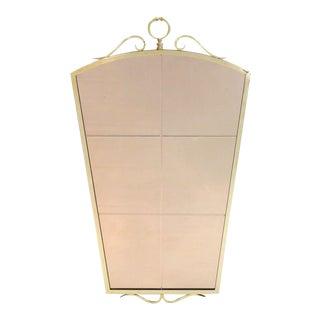 Fontana Arte Style Brass Mirror For Sale