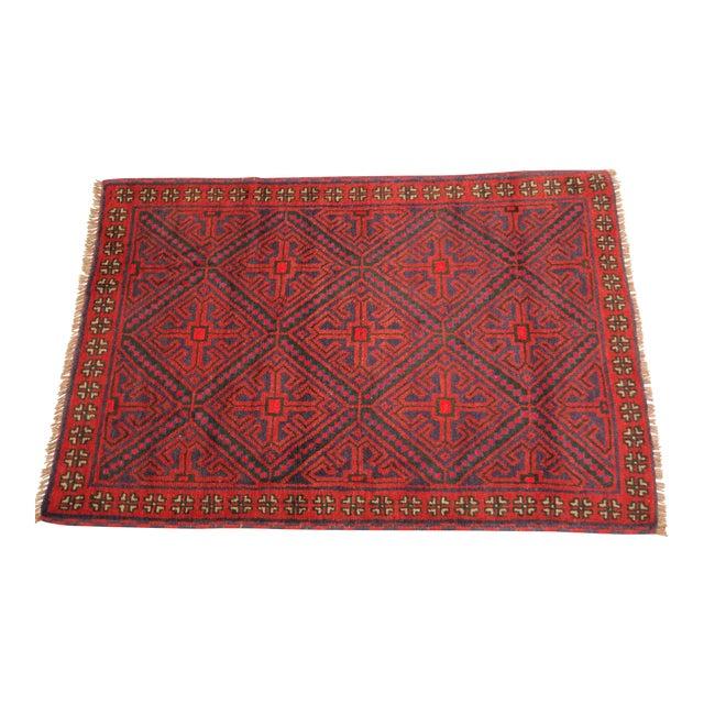 Vintage Persian Baluchi Carpet - 2′10″ × 4′4 - Image 1 of 3