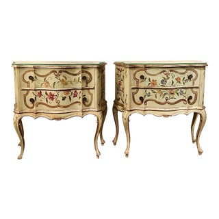 1940's Italian Painted Commodes or Chests- a Pair For Sale
