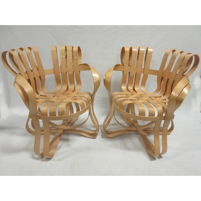 Contemporary 1990s Vintage Frank Gehry Cross Check Chairs- A Pair For Sale - Image 3 of 8
