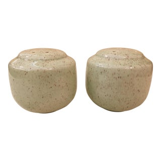 Green Speckled Salt & Pepper Shakers For Sale