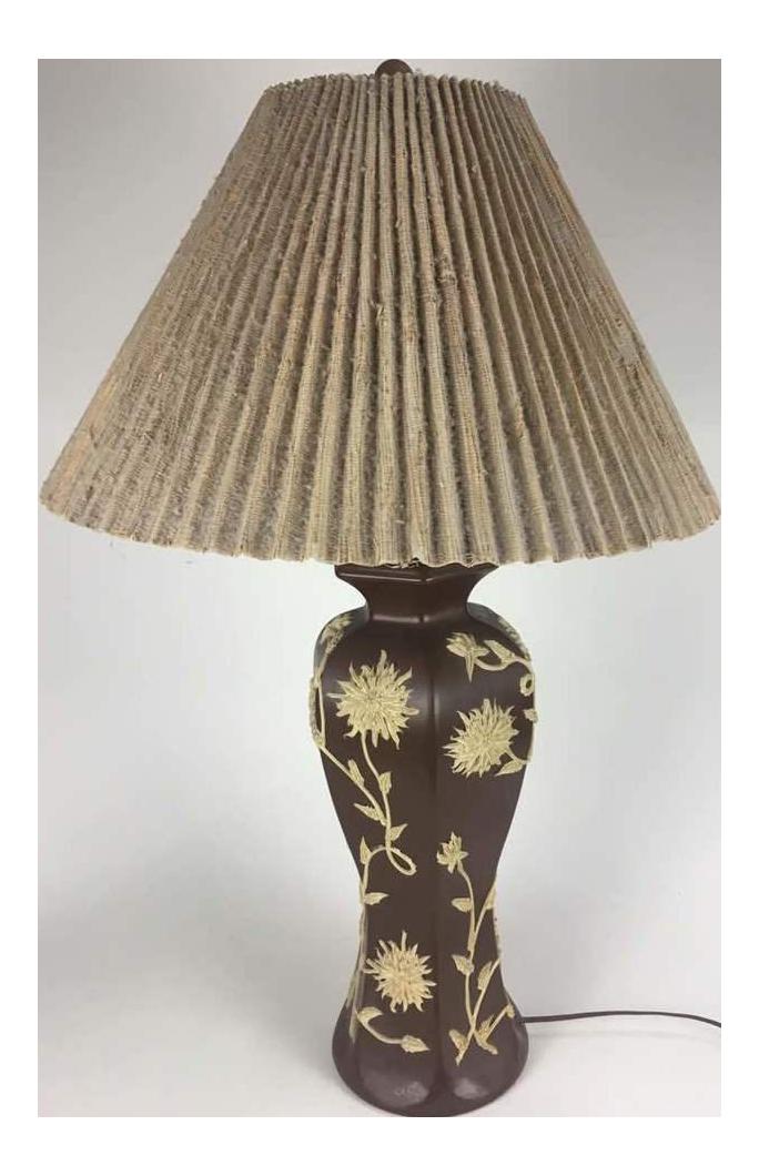 Shabby Chic Dark Brown Ceramic Table Lamp Chairish
