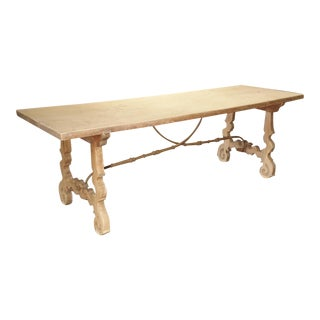 Early 1900's Single Plank Table From Spain For Sale