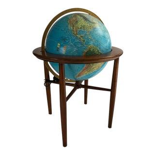Mid-Century Modern Replogle Style Illuminated World Globe