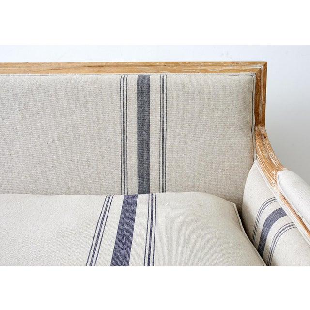 Off-white French Louis XVI Style Bleached Oak Settee Loveseat For Sale - Image 8 of 13