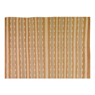 """Vintage Navajo Knotted Organic Wool Fine Weave Rug,5'9""""x7'9"""" For Sale"""