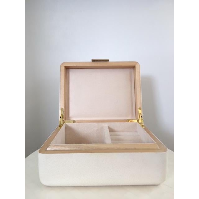 Cream Shagreen Jewelry Box - Image 4 of 6