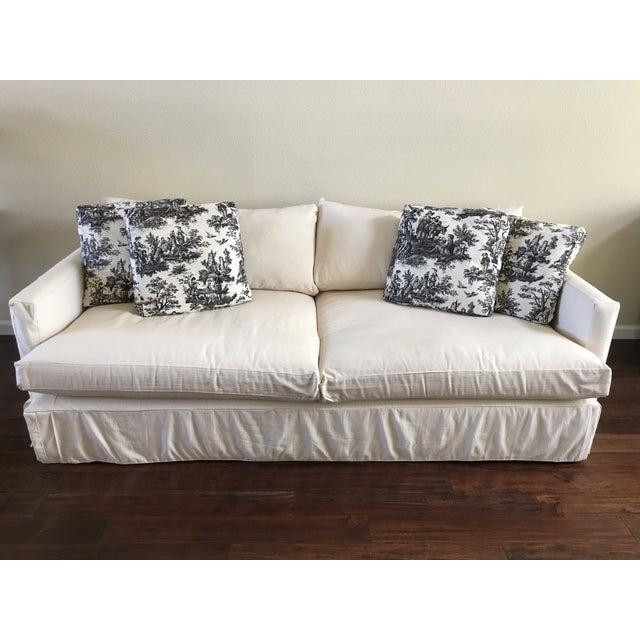 "Crate & Barrel 93"" Slipcover Lounge Sofa - Image 2 of 7"